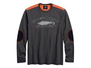 Pullover, Screamin' Eagle, Harley-Davidson, Grau/Orange/Schwarz