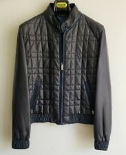 $16,000 ZILLI 100% Lambskin leather jacket + fur collar Zip Size 52 Medium/Large