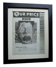 RIDE+Going Blank Again+POSTER+AD+ORIGINAL 1992+QUALITY FRAMED+FAST GLOBAL SHIP