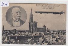 D11, Strassburg 2 Bild Zeppelin über Strassburg August 1908 gelaufen 1909 !