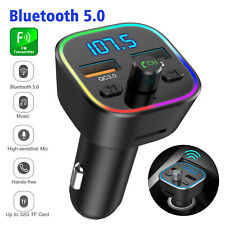 Wireless Bluetooth Car FM Transmitter QC3.0 USB Charger Adapter MP3 Radio Player