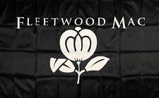 Fleetwood Mac Flag 3x5 ft Black Banner Stevie Nicks Buckingham Man-Cave Garage