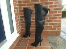 Sexy PLEASER 'Legend' Black Leather Thigh High Boots * s7 * DOMINATRIX * FETISH