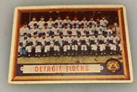 1957 Topps # 198 Detroit Tigers Team Baseball Card