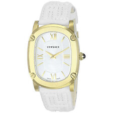 Authentic Giani Versace Couture Greca Watch White & Gold VNB04001 NIB $1,550.00