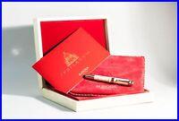 AURORA 0134 LIMITED EDITION golden marble JUBILAEUM Piston Filler Fountain Pen