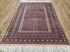 Vintage Turkoman Bokhara Rug 4x6 Four Seasons Yamud Carpet Handmade Tribal Rug