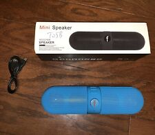 NEW Bluetooth Wireless Speaker Mini Super Bass Aux USB Stereo MP3 Pill Speaker