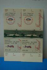 Set of 2 2003 Philadelphia Phillies Last Game Veteran's Stadium Full Ticket MINT