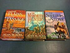 Book lot 3 EARTH'S CHILDREN Series by JEAN M. AUEL hc/dj  THE MAMMOTH HUNTERS