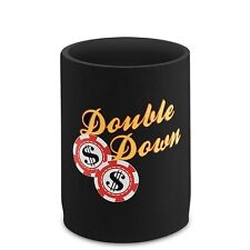Epicool Neoprene CAN Cooler--Poker-DOUBLE DOWN--by Epic Wine Products--Coozie