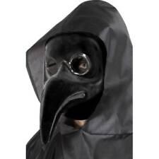 Maschere nero horror in plastica per carnevale e teatro