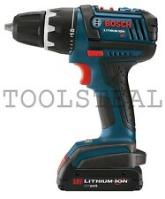 "Bosch Cordless 1/2"" Drill/Driver Kit 18 Volt Li-Ion NEW DDS180-02-(Tool Only)"