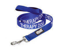 Colour Coded Blue THERAPY DOG Lead Leash Heavy Duty or Collars S-M L-XL XX New