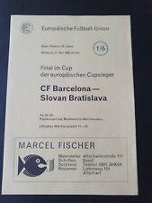 More details for 1969 ecwc final - barcelona 🇪🇸 v slovan bratislava 🇸🇮