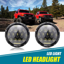 "DOT Pair 7"" LED Headlights Headlamp Bulb DRL Lamp For 2007-14 Toyota FJ Cruiser"