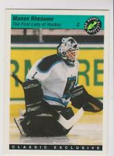 1993 Classic Prospects #5 Manon Rheaume rookie card, Canadian Hockey legend