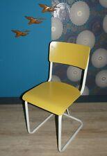 stylisher 50er Jahre Stuhl industrial Style Metall/Holz GELB/weiß Niederlande