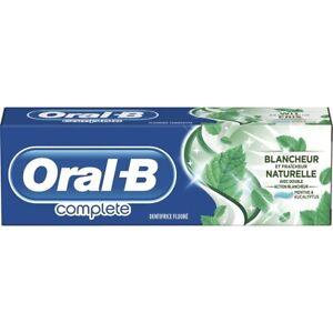 Lot de 3 dentifrices Oral B complète blancheur naturelle menthe eucalyptus 75ml
