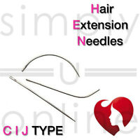 SET OF 3 HAIR WEFT NEEDLES  EXTENSIONS WEAVE NEEDLE (C I J)