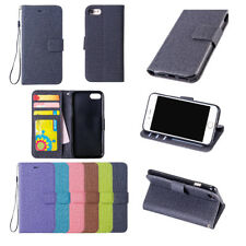 GF Cotton Stripe Magnetic Wallet Leather Flip Stand Case Cove For Lot Phones II