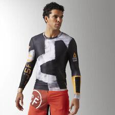 Abbiglimento sportivo da uomo neri marca Reebok compressione