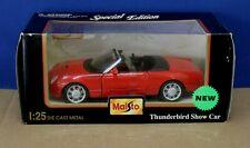 Maisto 31966 1:25 New Thunderbird Show Car Red MIB Sealed 1999