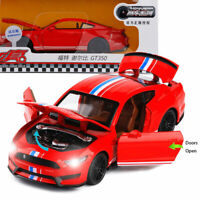 1:32 Ford Mustang Shelby GT350 Model Car Alloy Diecast Gift Toy Vehicle Kids Red