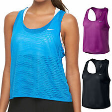 53e92e8dca Women s Nike Run Fast Dri-fit Crop Running Tee Size XL Bright Blue
