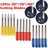 15pcs 30° 45° 60° Cutting Tungsten Blade For Mimaki Cutting Plotter Vinyl Cutter