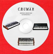 Crumar Service Manuals schematics on 1 cd in pdf format
