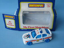 My First Matchbox Vauxhall Astra Police Blue Hubs China Base Boxed Toy Model Car