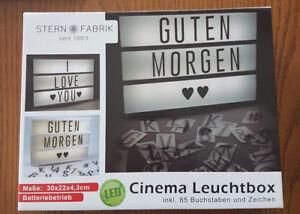 LED Leuchtbox Cinema Box inkl. 85 Buchstaben & Zeichen Leuchtkasten Lightbox Neu