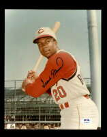Frank Robinson PSA DNA Coa Hand Signed 8x10 Reds Photo Autograph