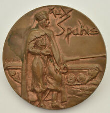 Médaille bronze militaire régiment Spahis armée cavalerie Afrique Peltier 1987