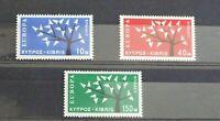 CYPRUS #219-221 F-VF MLH 1962 EUROPA COMPLETE SET. SG 224-226. Cv. $75+