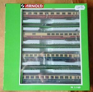 Hornby Arnold N Gauge HN4265 4 piece Set DB Passenger Coaches Era IV NEW