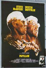 AFFICHE ANCIENNE FILM PAPILLON SEVE MC QUEEN DUSTIN HOFFMAN circa 1973