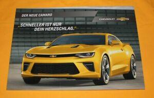 Chevrolet Camaro 2017 Prospekt Brochure Depliant Prospetto Catalog Folder