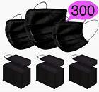 300 / 100 Medizinische OP Maske Typ IIR 2R Schwarz Mundschutz 3-lagig Einweg <br/> ✔ Medizinische OP Maske ✔ Typ IIR ✔ EN14683 ✔