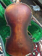 Old German Neuner Shop Guarnerius 4/4 Violin W/Case &bow -For Parts Or Repair.