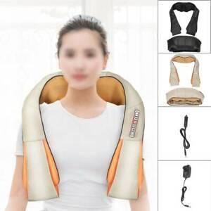 Electric 6 Button Neck back Shoulder massager shiatsu kneading pain relief heat