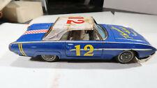 Bandai Tin Ford Thunderbird Race Car Number 12