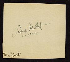 Ben Hecht (d. 1964) signed autograph 4x4 Album Page Actor: Underworld 1927 AAW