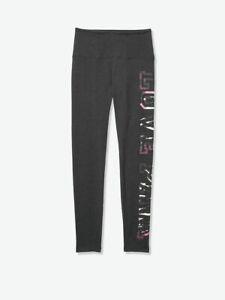 Victoria Secret VS Pink High Waist Cotton Dark Grey with Tie Dye Legging L NEW