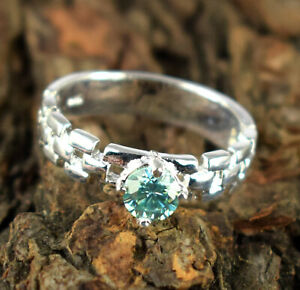 2.24 Ct Certified  Blue Diamond Solitaire Earthmined Ring Stunning Collection