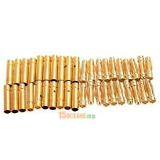 20 Pairs/Lot 3mm Bullet Banana Plug Wire Connector for RC Battery Gold Plated