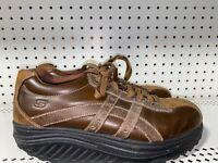 Skechers Shape Ups Overhaul Mens Leather Athletic Toning Walking Shoes Size 9.5