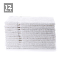 12x White Hand Towels 100% Pure Egyptian Cotton Quick Dry Absorbent Soft Quality