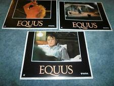 EQUUS(1977)RICHARD BURTON LOT OF 3 DIFF LOBBY CARDS